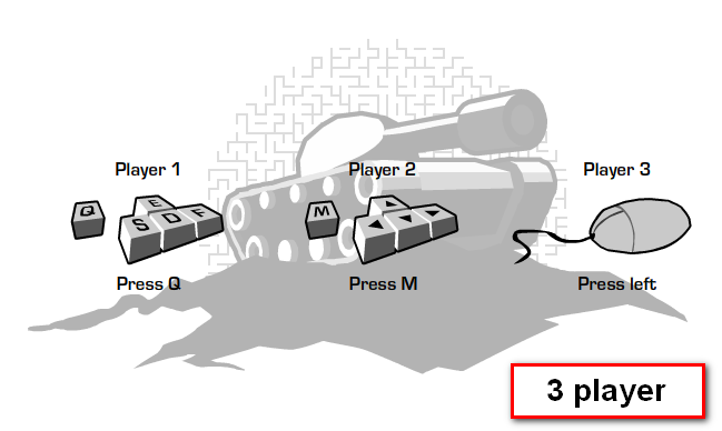 3 player mode controls